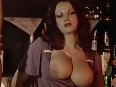 Busty and hairy women fuck in sham of change off guests
