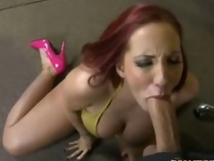 Redhead milf Kelly Divine in pink uppity heels has uttered sex