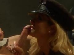 Forlorn Policewoman Jessica Drake Fucking and Drubbing In Uniform