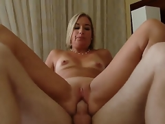 Golden-haired hottie Sexy Suz gets nailed plus enjoys exquisite pelasure while fucking with Patrick J Knight