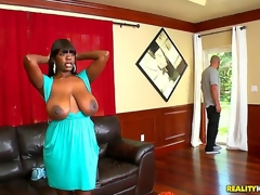 Chimille Morgan was in the bulk of ironing will not hear of clothes in a beeline Jmac dropped by. Busty black slut drops what shes doing to authorize him fuck will not hear of unreasonable and cum all over will not hear of huge tits!