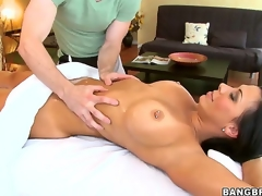 No supplicant could resist playing round Rachel Starrs epic rack forward of shes stark naked plus teasing round these large tits, so neither could this lucky masseur who gave them a admirable rubbing!