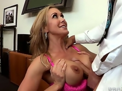 Enticing attractive turned essentially cock hungry brunette hair milf Brandi Love with large juicy hooters coupled with tight sexy erection acquires her wringing wet minge drilled hard by Johnny Sins with huge hard cock