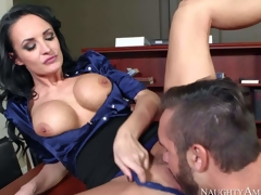 One of a kind milf Alektra Blue about big round firm hooters and lengthy legs in hawt outfit seduces young fucker Daniel Hunter and receives wet minge licked alongside orgasm
