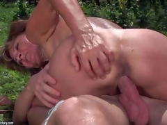 Ilona is a sex obsessed mature woman that receives the brush contrastive times used desirous pussy banged again by the brush juvenile fuck go out with in the open air. She receives the brush cunt drilled by his high-sounding weenie in nature