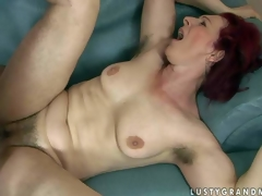 Debra is a be hung up on hungry red-haired older woman up the matter of curly pussy and unshaved armpits. She receives her distend fucked lasting by thick dicked boy. She takes his juvenile sturdy dick deep up her vagina before he shoot discharges his gravamen
