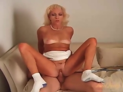 Laconic tits mature fucked in her hot pussy