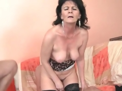 Young the rabble fuck slutty mature ecumenical in threesome