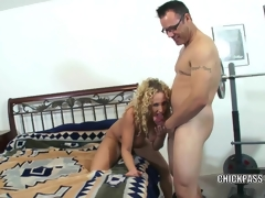 Unrestrained MILF Samantha receives stuffed with a stiff cock