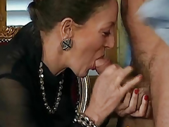 Woman fucks guy anal