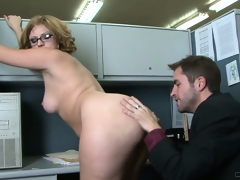Office workers take a break for some chubby ass surprise drilling