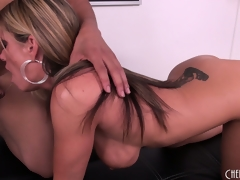 Kristal Summers succeed in her wish with a big dark dick to nibble on