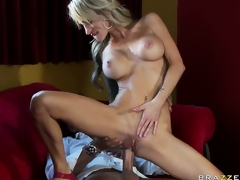 Hot aurous MILF roughly tattoos and big silicone tits gets nailed in the restaurant