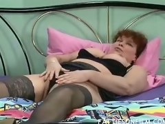 Barbara was just getting willing of lie alongside but stripping will not hear of clothes off added to seeing will not hear of sexy black nylons actually made will not hear of horny. She then begins massaging will not hear of juicy gut added to finger shafting will not hear of bushy stark to orgasm.