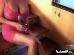 Erotic blonde slut gets horny sucking glaze