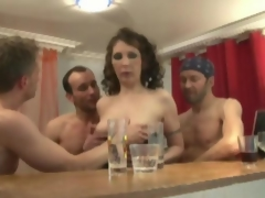Patricia gangbanged in stockings