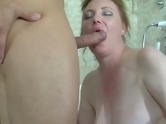 Fat obscurity milf in violation in a catch tube gets banged