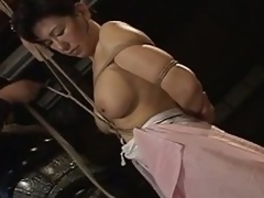 Leader asian milf bound & tied