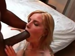 Giant black cock dude brings home a slutty tie the knot