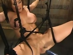 Busty milf Christina Porter gets favoured away from a bonking machine