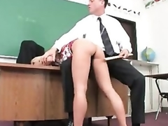 Succulent schoolgirl captured and fucked by lustful aged stud