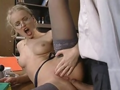 Glassed Anal Slut Dora Venter Receives Fucked and Facialized In The Nomination