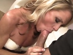 Admirable looking powdered blond MILF Nikki Charm takes sturdy wang in her mouth. But after wang sucking she uses her tongue to give respect to her fuck buddy. That sweetheart licks his asshole and that dude likes clean out so much.