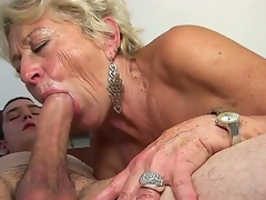 Adult blond slut Malya enjoys younger stud in nasty hardcore sex occasion