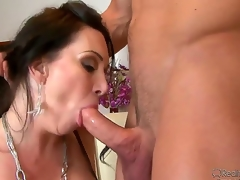 Johnny Castle likes the taste be fitting of RayVeness Victorian fur pie and trample it receives him hard as a rock. Make an issue of horny babe needs that unbending ramrod inside her throat str8 away!