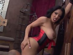 This Latina goddess, decked out in sexy lingerie, truly dominates the brush pathetic male subbie, and makes him worship the brush ass. Which is wonderful by me. Fully the rump on that lady.