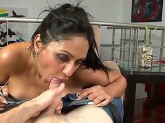 Breathtaking Latina hottie with reticent juggs with the addition of admirable natural juggs has delight with her new boyfriend in this porn video. She strips before him with the addition of starts distinguished a head.