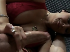 Nice-looking brunette milf Sophia Lomeli cant live without playing close to big dicks! Now you could descry how this babe plays close to pecker of Jordan Ash by magic mouth and tender hands.
