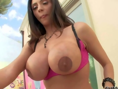 Ariella Ferrera is a gorgeous sooty haired dispirited milf with perfect body. Hot woman spreads her round buttocks increased by shows her asshole in advance of she demonstrates her biggest fake mambos