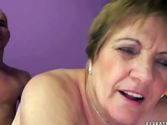 Piros is s naughty granny that gets her bewhiskered wet twat fucked unfathomable and hard by her sex obsessed young lover. He sticks his jock in her many times used aged vagina and this babe loves it so fucking much!