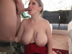 Incredible curves and majuscule bowels on cocksucking milf