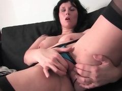 Voluptuous increased by sexy milf masturbates her cunt