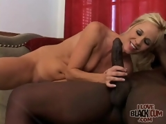 Milf rides big darksome cock with preference