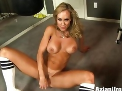 Brandi Love dildo fucks her juicy moist slot