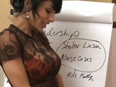Big cheese Persia Pele copulates a horny worker