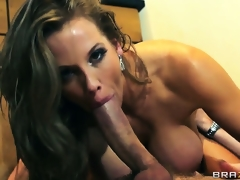 After a top-drawer anal fuck, energized babe swallows pint of charming sperm