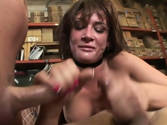 Fidgety schoolgirl gets pounded hardcore in in every direction her holes regarding some nice double penetration act