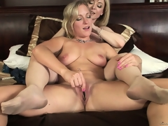 Nina with her lesbo lover as they far curvings licking plus fingering