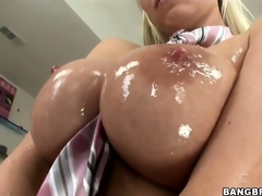 Sweet, oiled up titties together with wet pussy make this Hungarian ultra lascivious