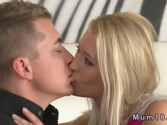 Beautiful blonde MILF fucking there her maturing darling