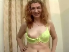 Mature floozie Ania blows and gets fucked hard from upon anybody
