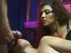 Breasty Latina Dominatrix Fucks Her Sex Slaves Waiting for Property Facialized