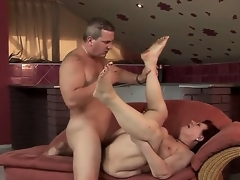 Wild granny Hetty sucks a tasty youthful dick and gets it in her sweet hole