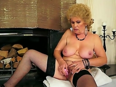 Hardcore action with a titillating granny Effie who permeates her gradual hole with a toy