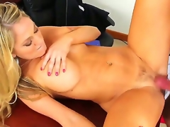 Alec Knight makes his rock solid schlong vanish prevalent sexy bodied Amber Ashlees racy spot