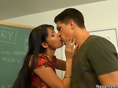 Eva Karera is a very luscious MILF chick and she knows that youthful males need near learn. She teaches her youthful student Bruce Venture, sucking him off and offering close near her milf snatch for him near bang.